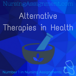 Alternative Therapies in Health
