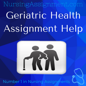 Geriatric Health Assignment Help