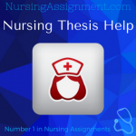 Nursing Thesis Writing Service