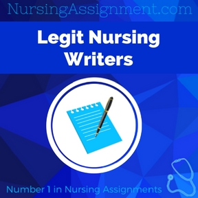 Legit Nursing Writers Assignment Help