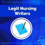 Legit Nursing Writers