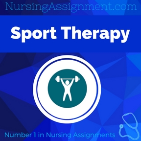 Sport Therapy Assignment Help