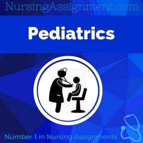 Pediatrics Assignment Help