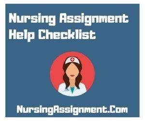 Nursing Assignment Help Checklist