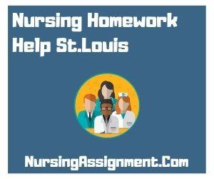 Nursing Homework Help St. Louis